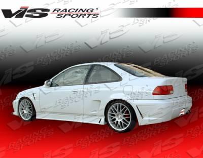 VIS Racing - Honda Civic 2DR & 4DR VIS Racing TSC-3 Side Skirts - 92HDCVC2DTSC3-004