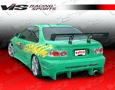 VIS Racing - Honda Civic 2DR & 4DR VIS Racing Wave Side Skirts - 92HDCVC2DWAV-004
