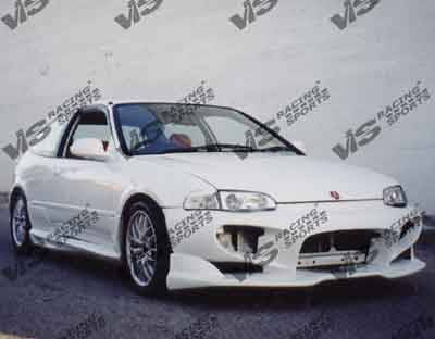 VIS Racing. - Honda Civic 2DR VIS Racing Wizdom Side Skirts - 92HDCVC2DWIZ-004