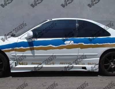 VIS Racing - Honda Civic 2DR VIS Racing XGT Side Skirts - 92HDCVC2DXGT-004
