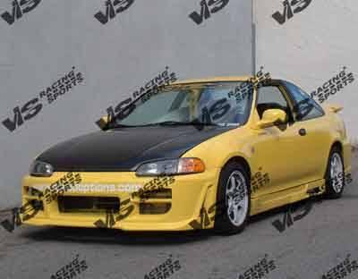 VIS Racing - Honda Civic 2DR VIS Racing Z1 boxer Side Skirts - 92HDCVC2DZ1-004