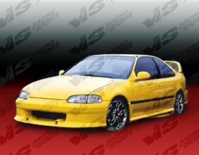VIS Racing - Honda Civic 4DR VIS Racing Wizdom Side Skirts - 92HDCVC4DWZ-004