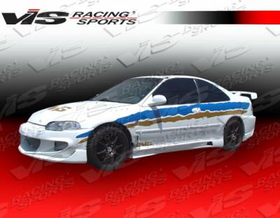 VIS Racing - Honda Civic 4DR VIS Racing XGT Side Skirts - 92HDCVC4DXGT-004