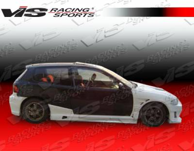 VIS Racing - Honda Civic HB VIS Racing J Speed Side Skirts - 92HDCVCHBJSP-004