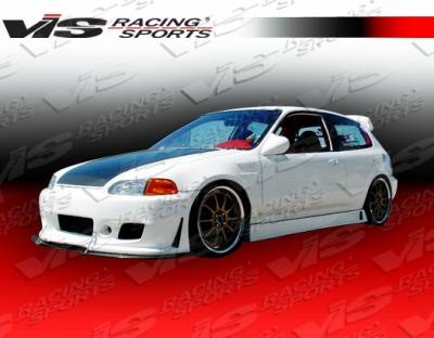 VIS Racing - Honda Civic HB VIS Racing TSC-3 Side Skirts - 92HDCVCHBTSC3-004