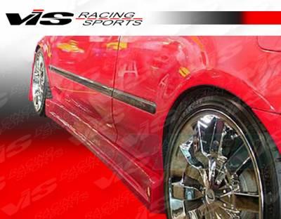 VIS Racing - Honda Civic HB VIS Racing V Speed Side Skirts - 92HDCVCHBVSP-004