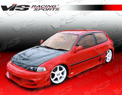 VIS Racing - Honda Civic HB VIS Racing Wave Side Skirts - 92HDCVCHBWAV-004
