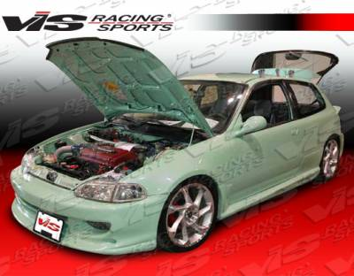 VIS Racing - Honda Civic HB VIS Racing Wizdom Side Skirts - 92HDCVCHBWZ-004