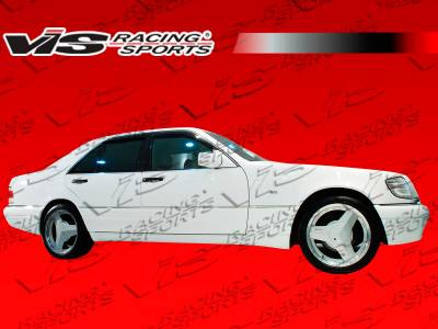 VIS Racing - Mercedes-Benz S Class VIS Racing Laser Side Skirts - 92MEW1404DLS-004