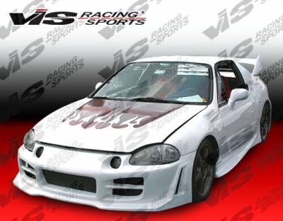 VIS Racing - Honda Del Sol VIS Racing Invader Side Skirts - 93HDDEL2DINV-004