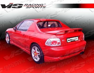 VIS Racing - Honda Del Sol VIS Racing Techno R Side Skirts - 93HDDEL2DTNR-004