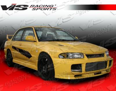 VIS Racing. - Mitsubishi Mirage 4DR VIS Racing Evolution-3 Side Skirts - 93MTMIR4DEVO3-004