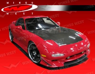 VIS Racing - Mazda RX-7 VIS Racing JPC Side Skirts - Polyurethane - 93MZRX72DJPC-004P
