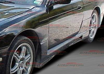 AIT Racing - Nissan 240SX AIT Racing R33 Style Side Skirts - N24097HIR33SS