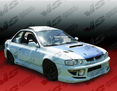 VIS Racing - Subaru Impreza VIS Racing Tracer Side Skirts - 93SBIMP4DTRA-004