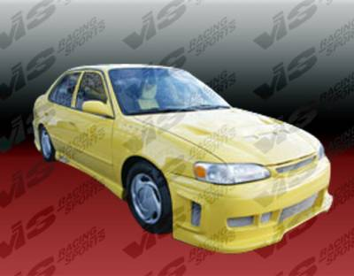 VIS Racing - Toyota Corolla VIS Racing Z1 boxer Side Skirts - 93TYCOR4DZ1-004