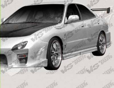 VIS Racing - Acura Integra 4DR VIS Racing Tracer Side Skirts - 94ACINT4DTRA-004