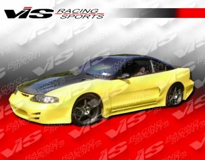 VIS Racing - Ford Mustang VIS Racing K Speed Side Skirts - 94FDMUS2DKSP-004