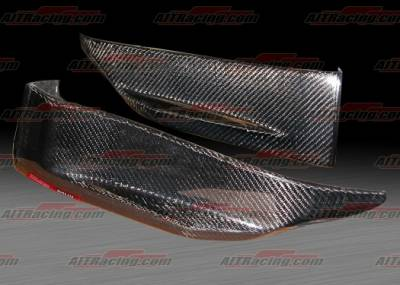 AIT Racing - Nissan 350Z AIT Racing Nismo Style Rear Add On Skirts - N3502BMNMORSC
