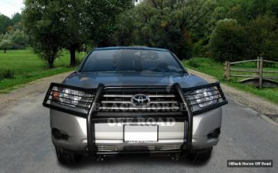 Black Horse - Toyota Highlander Black Horse Modular Push Bar Guard Central Plate