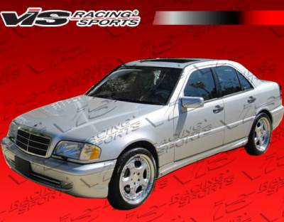 VIS Racing - Mercedes-Benz C Class VIS Racing B-Spec Side Skirts - 94MEW2024DBS-004