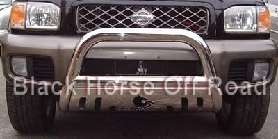 Black Horse - Nissan Pathfinder Black Horse Bull Bar Guard with Skid Plate