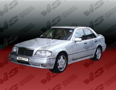 VIS Racing - Mercedes-Benz C Class VIS Racing Laser Side Skirts - 94MEW2024DLS-004