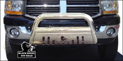 Black Horse - Dodge Ram Black Horse Bull Bar Guard with Skid Plate