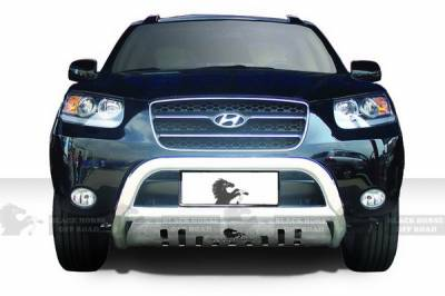 Black Horse - Hyundai Santa Fe Black Horse Bull Bar Guard with Skid Plate