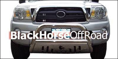 Black Horse - Toyota Tacoma Black Horse Bull Bar Guard with Skid Plate