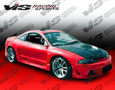 VIS Racing. - Mitsubishi Eclipse VIS Racing A Tech Widebody Side Skirts - 95MTECL2DATWB-004