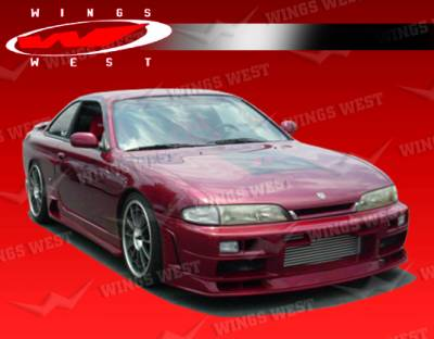 VIS Racing - Nissan 240SX VIS Racing JPC Type N Side Skirts - 95NS2402DJPCN-004