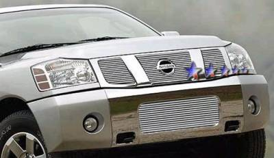 APS - Nissan Titan APS Billet Grille - with Logo Opening - Upper - Aluminum - N65412A