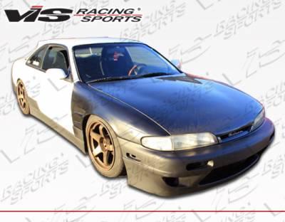 VIS Racing - Nissan 240SX VIS Racing Quad Six Side Skirts - 95NS2402DQS-004