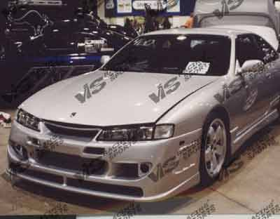 VIS Racing - Nissan 240SX VIS Racing Stalker Side Skirts - 95NS2402DSTK-004