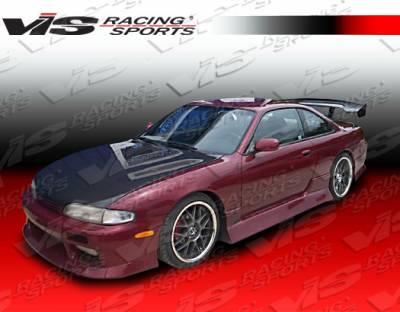 VIS Racing - Nissan 240SX VIS Racing V Spec-4 Side Skirts - 95NS2402DVSC4-004