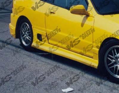 VIS Racing - Honda Civic 2DR & HB VIS Racing Battle Z Side Skirts - 96HDCVC2DBZ-004