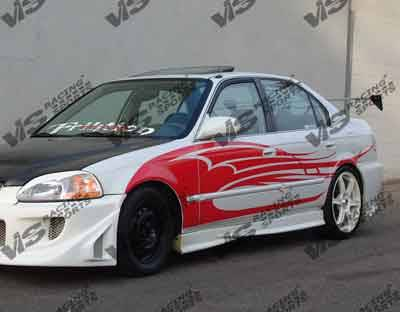 VIS Racing - Honda Civic VIS Racing Evolution Side Skirts - 96HDCVC2DEVO-004
