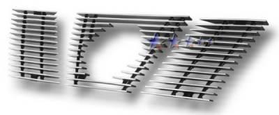 APS - Nissan Xterra APS Billet Grille - with Logo Opening - Upper - Aluminum - N66430A