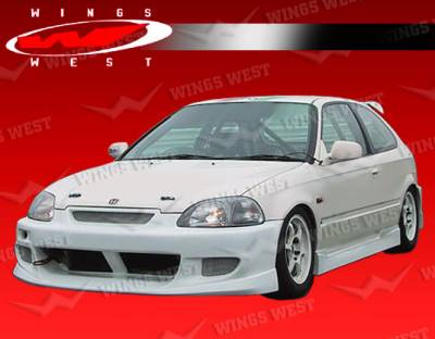 VIS Racing - Honda Civic 2DR & Hatchback VIS Racing JPC B Side Skirts - Polyurethane - 96HDCVC2DJPCA-004