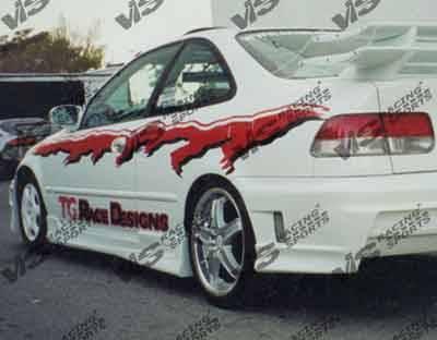 VIS Racing - Honda Civic VIS Racing Stalker Side Skirts - 96HDCVC2DSTK-004