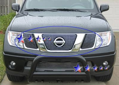 APS - Nissan Pathfinder APS Billet Grille - with Logo Opening - Upper - Aluminum - N66432A