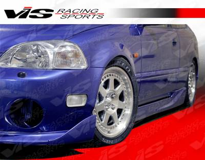 VIS Racing - Honda Civic 2DR & HB VIS Racing Techno R Side Skirts - 96HDCVC2DTNR-004