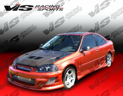 VIS Racing - Honda Civic 2DR & HB VIS Racing Techno R-2 Side Skirts - 96HDCVC2DTNR2-004