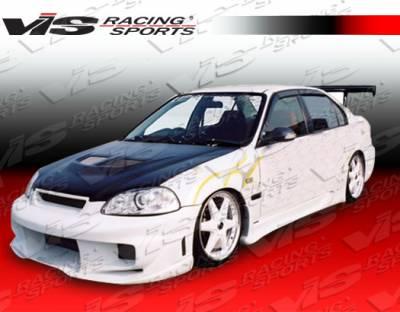 VIS Racing. - Honda Civic 2DR VIS Racing Wave Side Skirts - 96HDCVC2DWAV-004