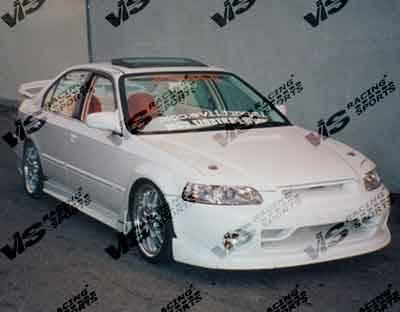 VIS Racing - Honda Civic 4DR VIS Racing Techno R Side Skirts - 96HDCVC4DTNR-004