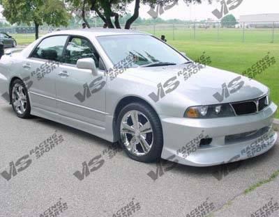 VIS Racing - Mitsubishi Diamante VIS Racing VIP Side Skirts - 97MTDIA4DVIP-004