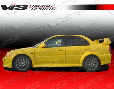 VIS Racing - Mitsubishi Mirage 2DR VIS Racing Evolution-5 Side Skirts - 97MTMIR2DEVO5-004