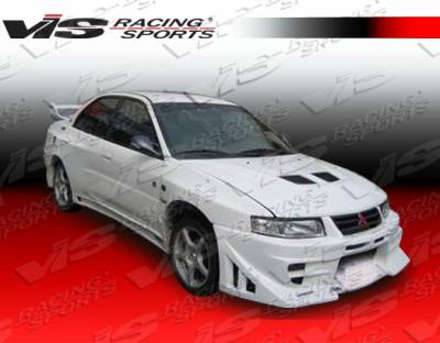 VIS Racing - Mitsubishi Mirage 4DR VIS Racing EVO 8 Widebody Side Skirts - 97MTMIR4DJE8WB-004