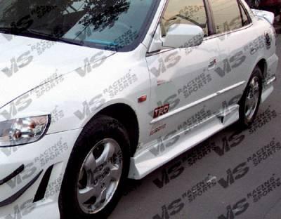 VIS Racing - Honda Accord 4DR VIS Racing Techno R Side Skirts - 98HDACC4DTNR-004